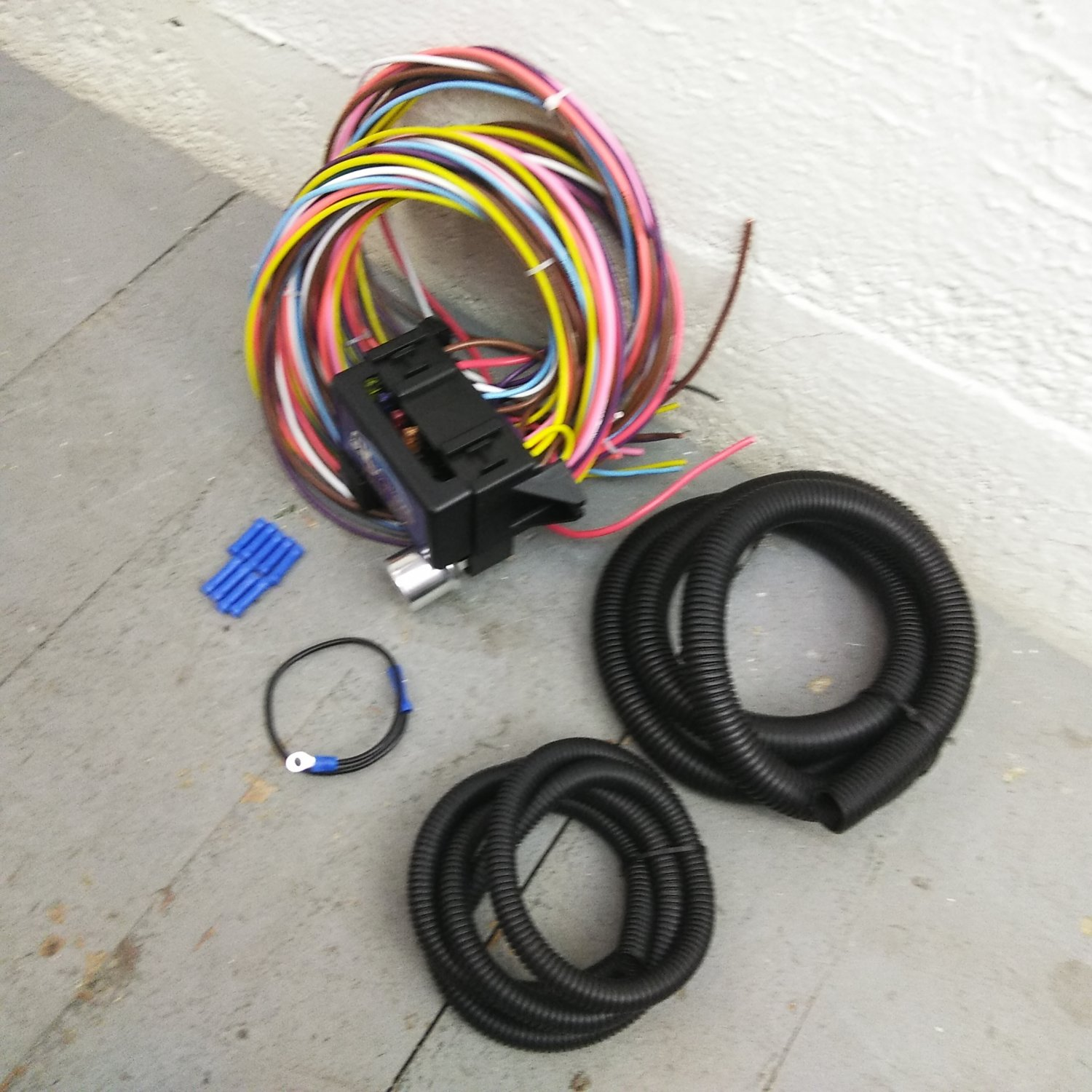 1955 1958 Mopar Chrysler 8 Circuit Wire Harness Fits Painless Fuse Home Box 1957 Block New
