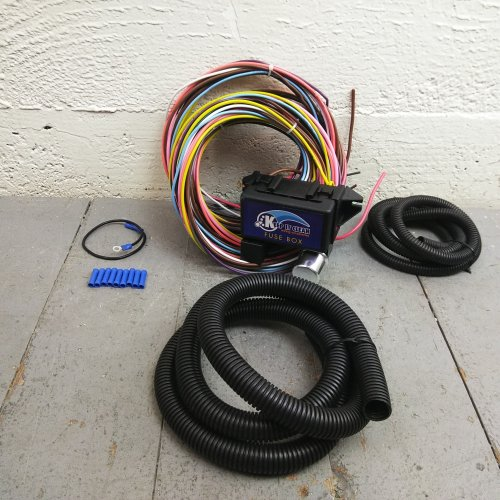 1964 mustang fuse box wiring 1964 1966 ford mustang 8 circuit wire harness fits painless  1964 1966 ford mustang 8 circuit wire
