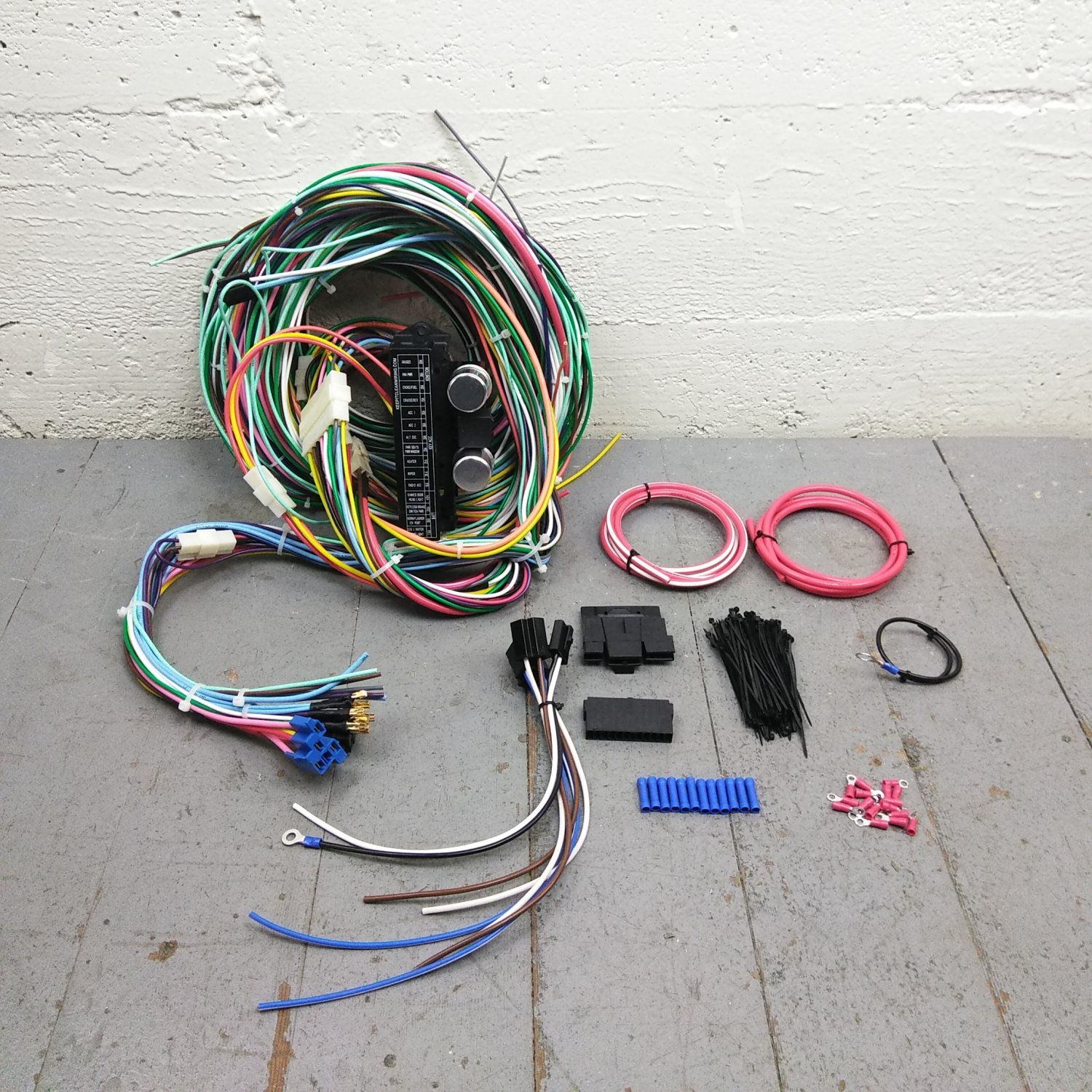 Vintage Car and Truck Wire Harness Upgrade Kit fits painless new fuse block  KIC. Bar_Product_Description_C