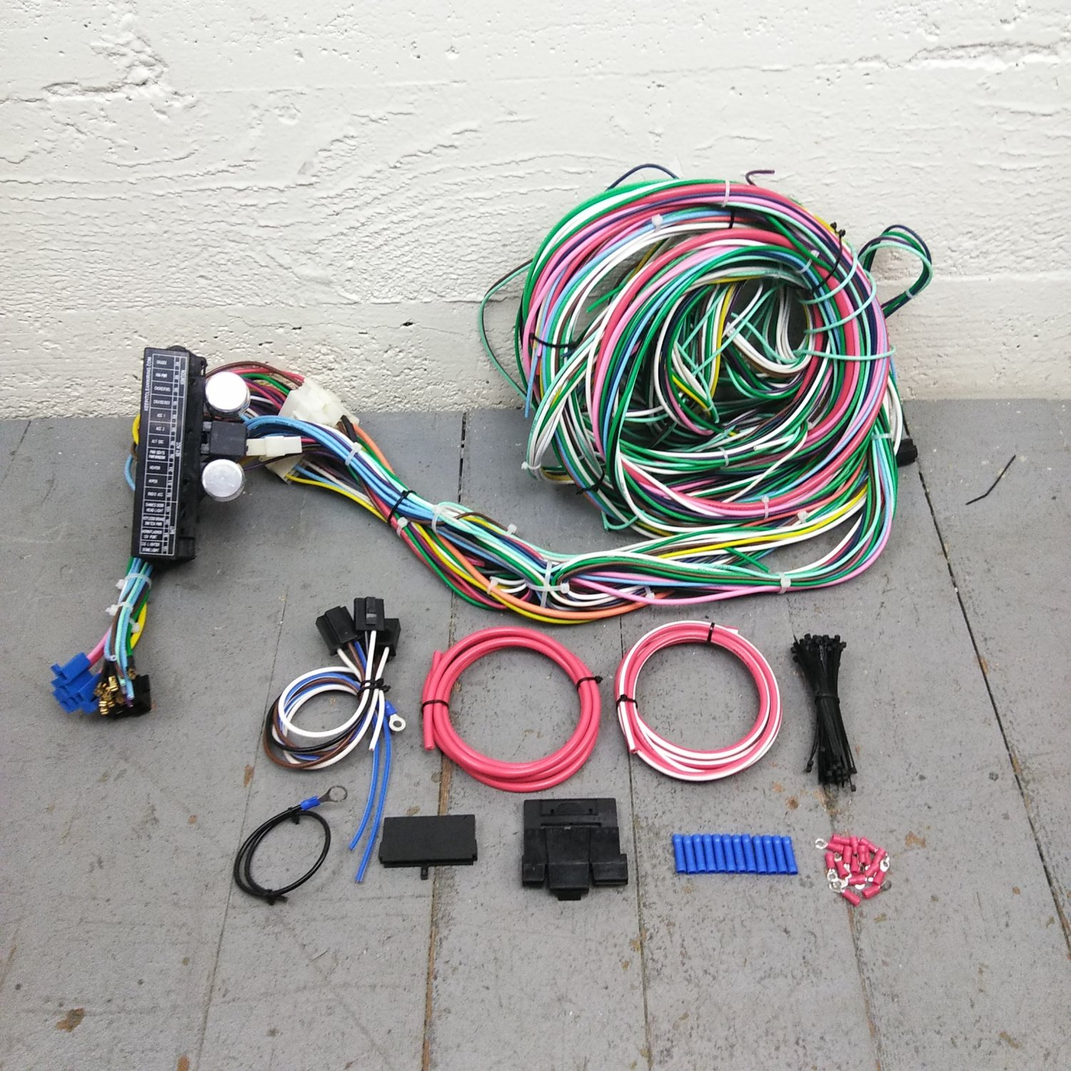 1967 1979 ford truck wire harness upgrade kit fits. Black Bedroom Furniture Sets. Home Design Ideas