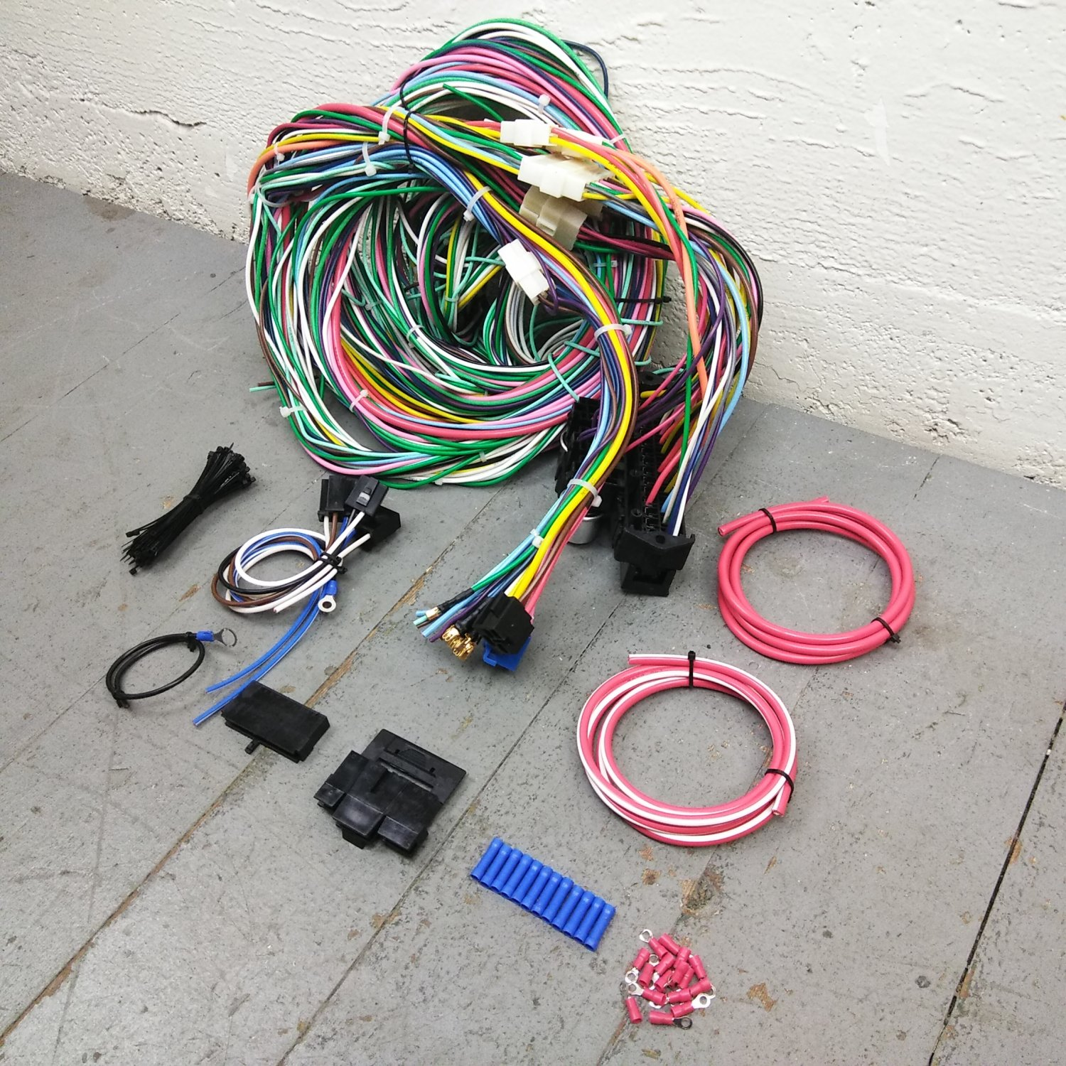 1968 - 1972 Nova Wire Harness Upgrade Kit fits painless circuit fuse update  new. Bar_Product_Description_C