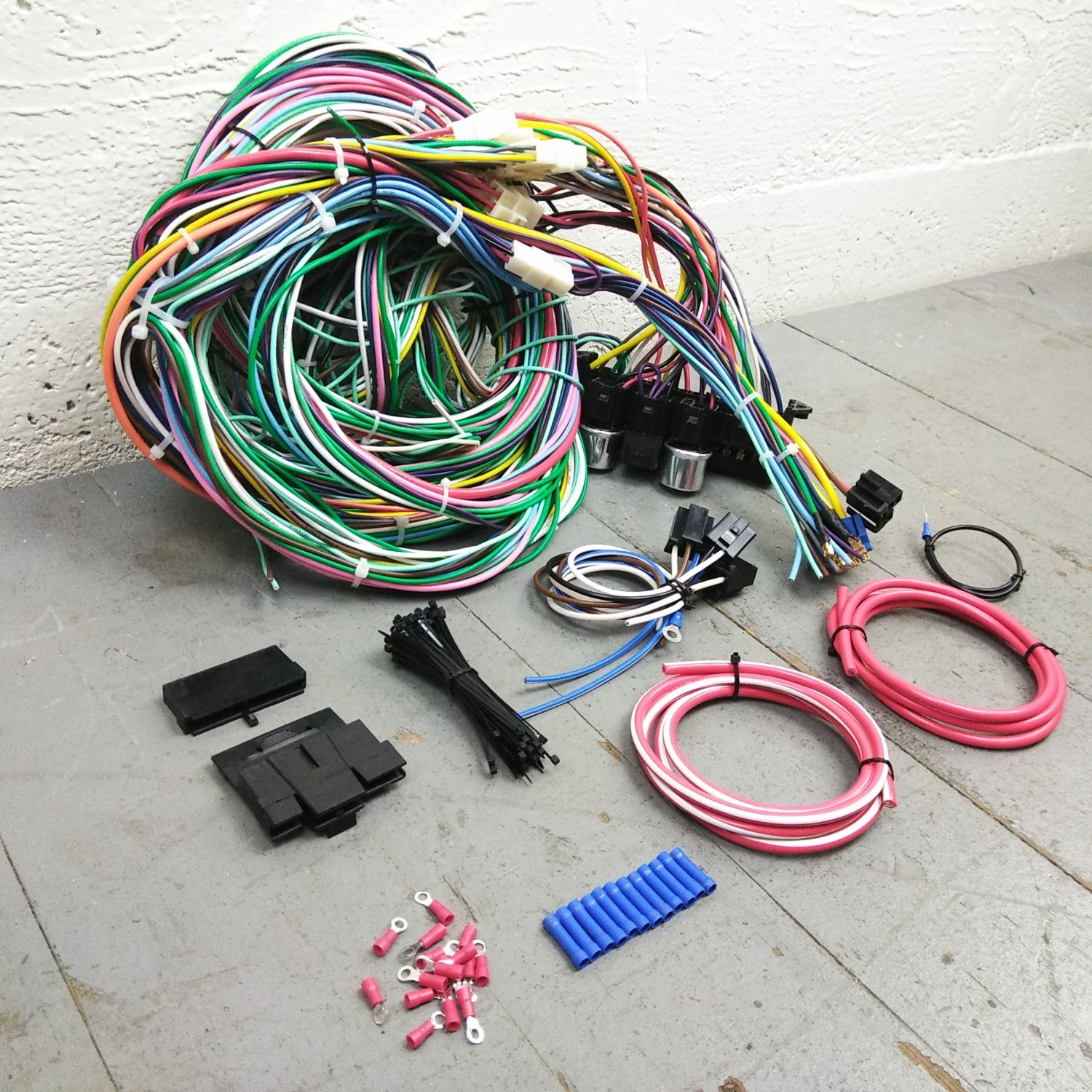 1968 1974 plymouth roadrunner wire harness upgrade kit fits