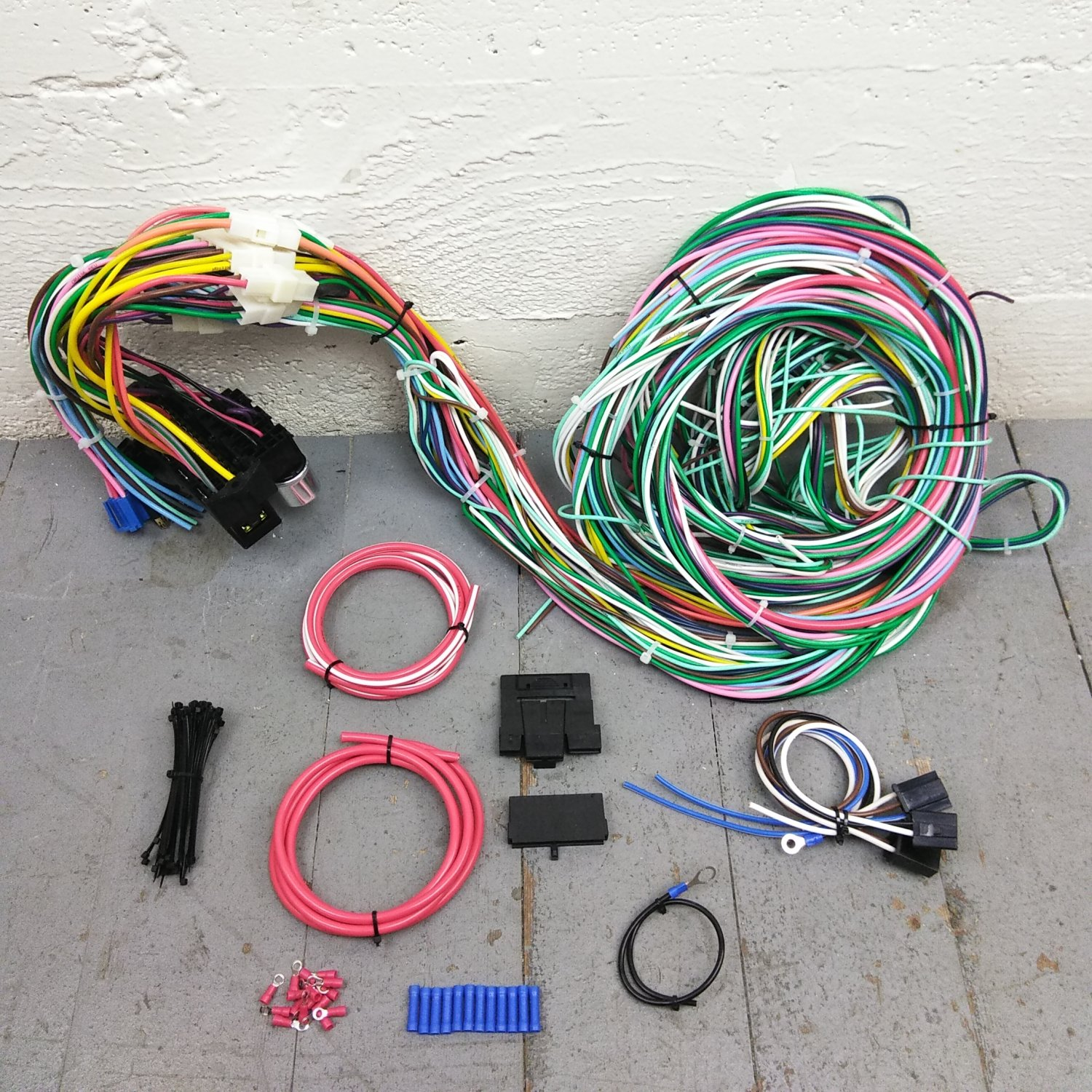 1950 - 1954 Chevy Car Wire Harness Upgrade Kit fits painless compact fuse  block. Bar_Product_Description_C