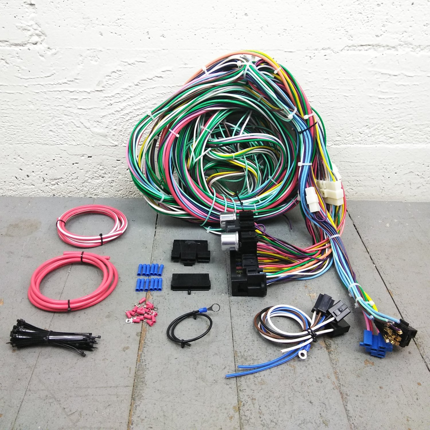 1964 - 1966 Ford Mustang Wire Harness Upgrade Kit fits painless compact new  KIC. Bar_Product_Description_C
