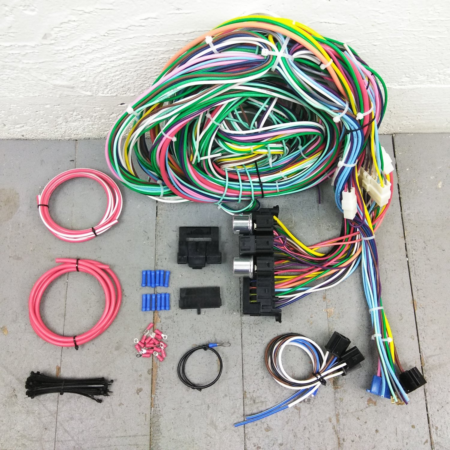 1964 - 1967 Buick Skylark Wire Harness Upgrade Kit fits painless circuit  update. Bar_Product_Description_C