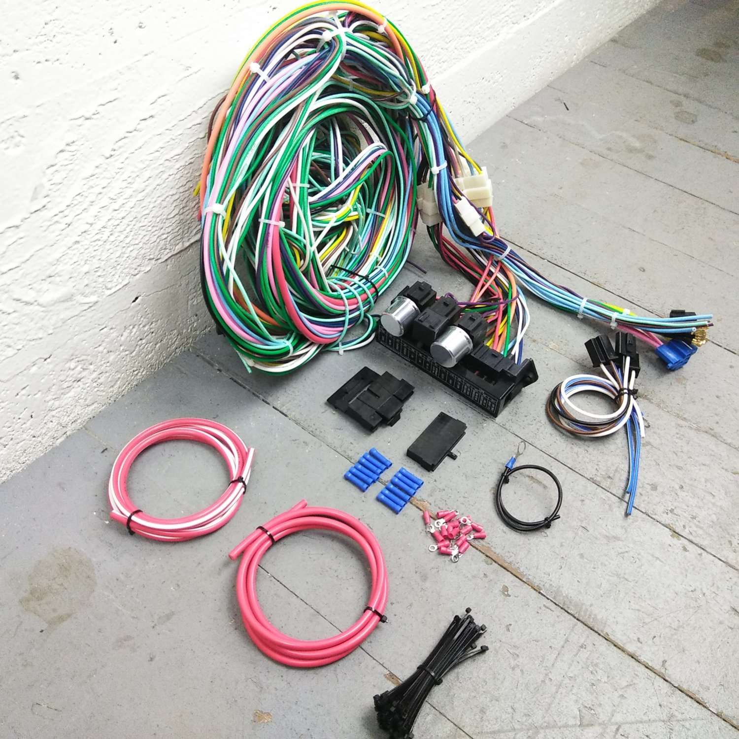 details about 1969 camaro wire harness upgrade kit fits painless compact update fuse block kic 1968 1969 camaro glass fuse series