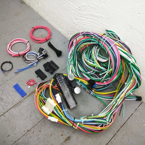 1982-1991 Jeep 12V Underdash Wire Harness 24 Circuit Fuse Box Wiring  Upgrade Kit | eBay
