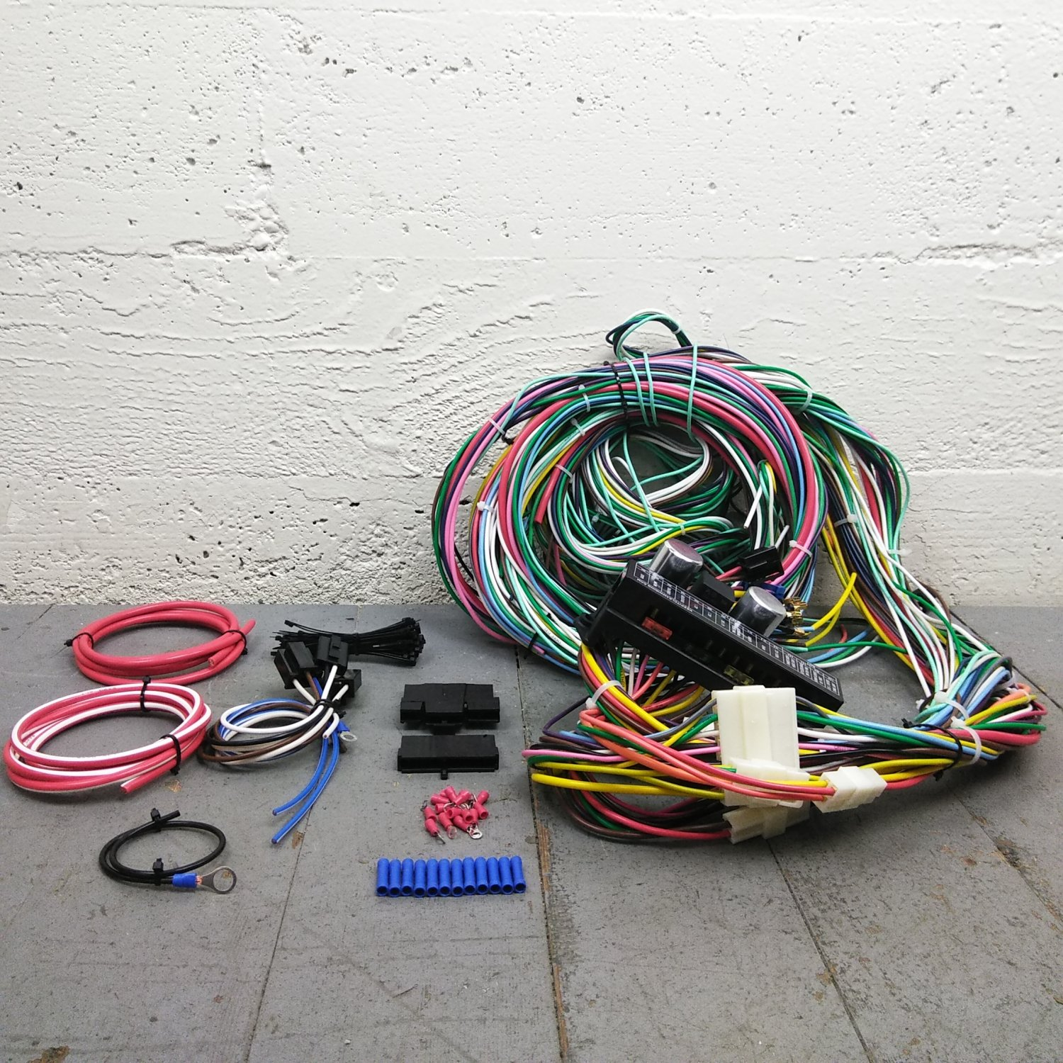 details about 1964 1967 pontiac gto wire harness upgrade kit fits painless fuse fuse block 1969 pontiac gto wiring diagram 1964 1967 pontiac gto complete wiring