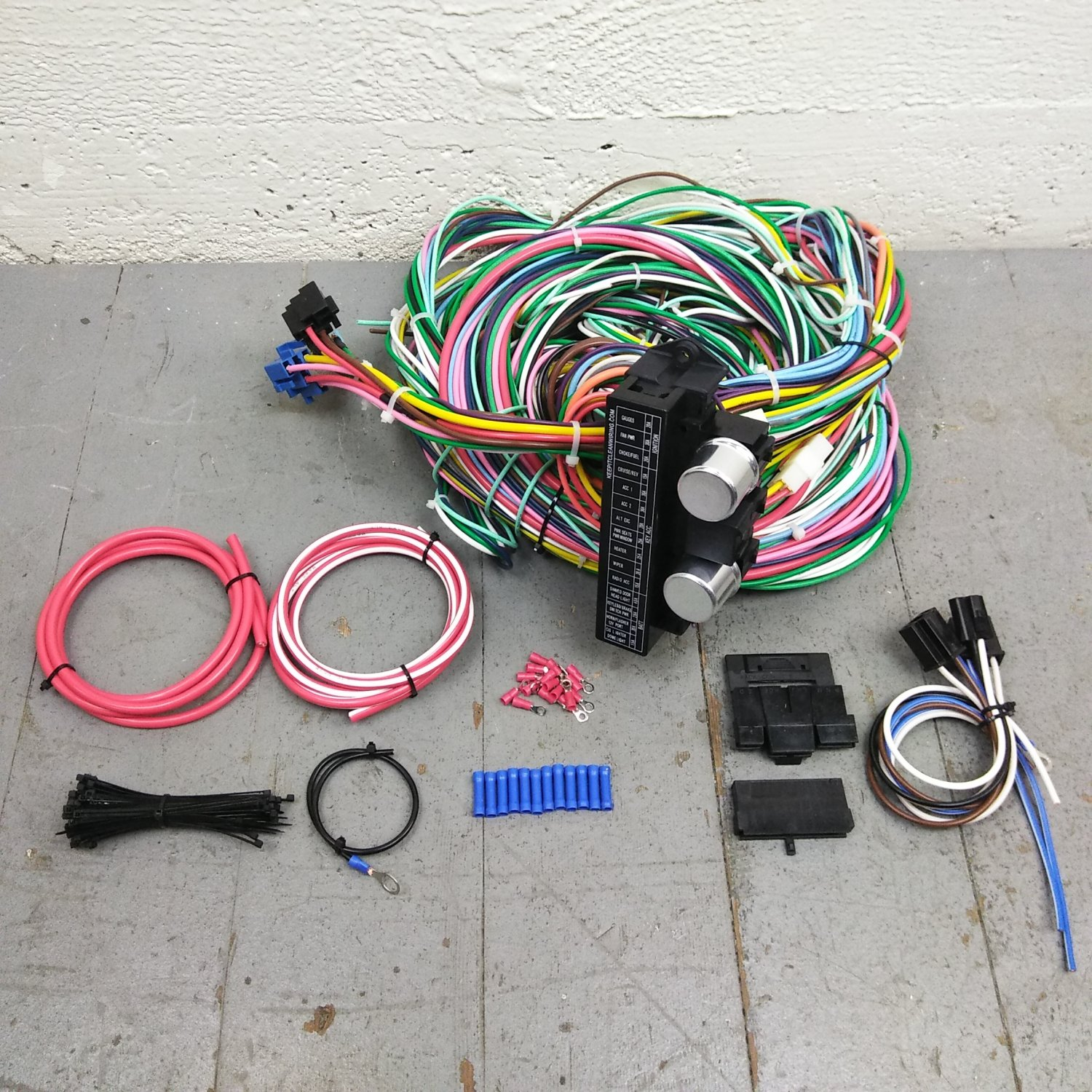 1955 - 1959 Chevy Truck Wire Harness Upgrade Kit fits painless complete  terminal. Bar_Product_Description_C