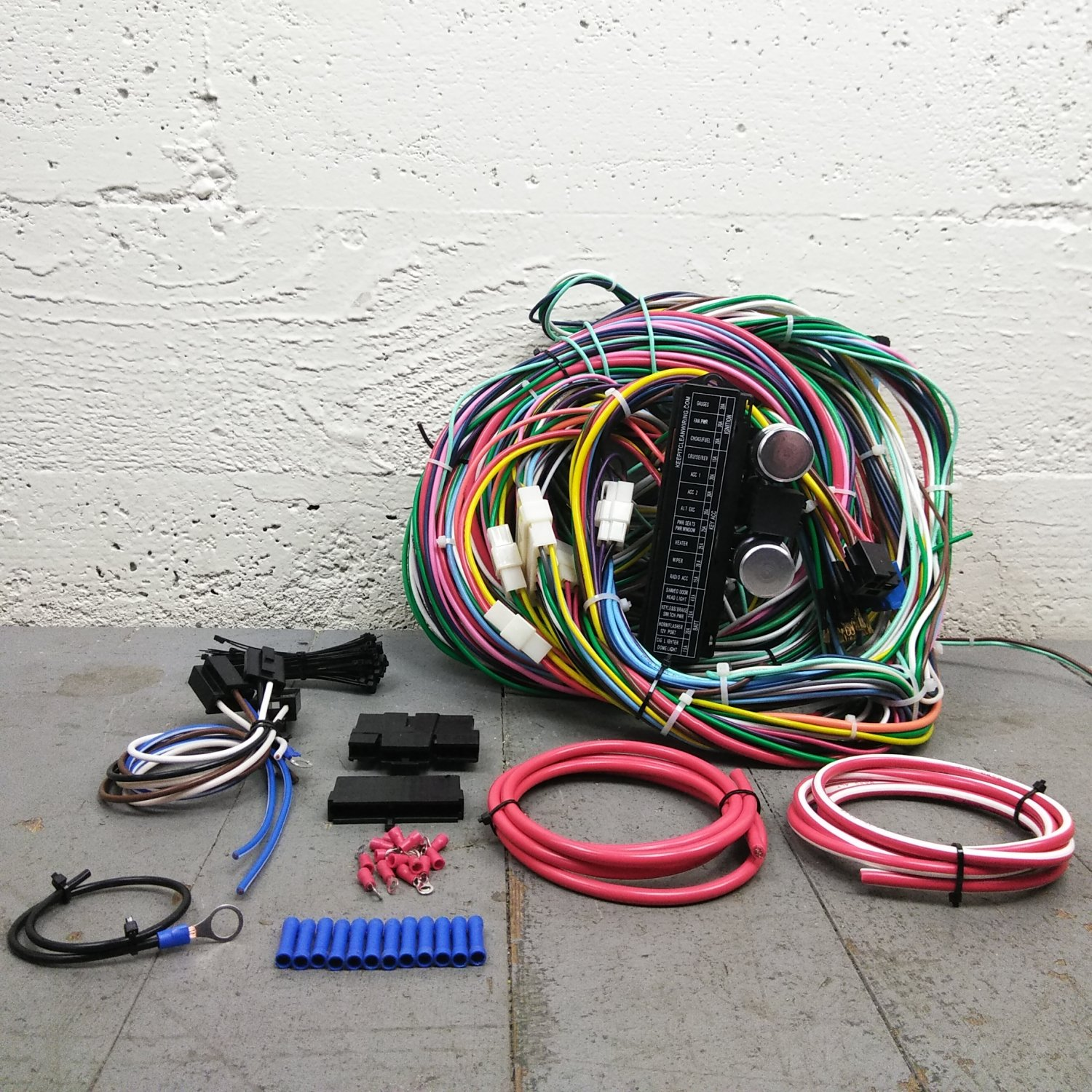 1971 - 1991 Ford Bronco Wire Harness Upgrade Kit fits painless new complete  KIC. Bar_Product_Description_C