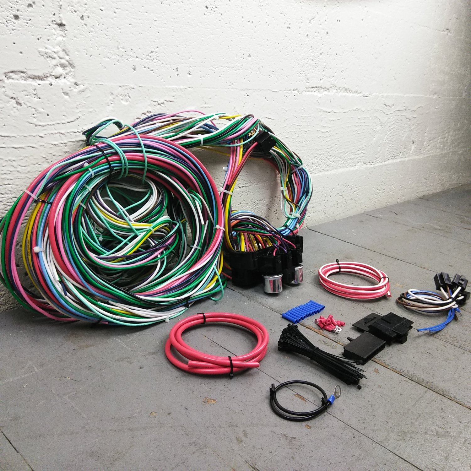 1958 and earlier Plymouth Wire Harness Upgrade Kit fits painless terminal  new. Bar_Product_Description_C