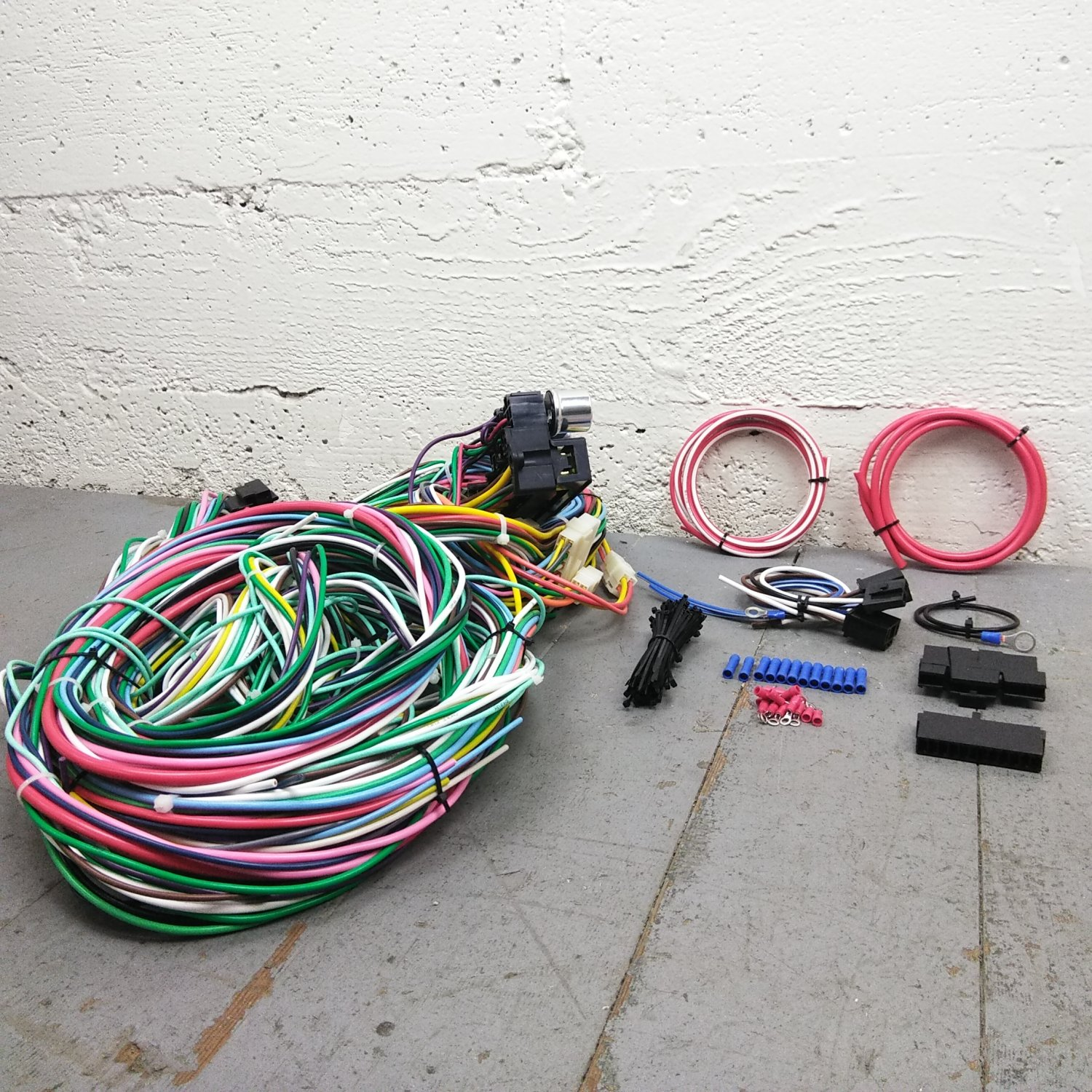 1966 - 1972 Dodge Coronet Wire Harness Upgrade Kit fits painless circuit  new KIC. Bar_Product_Description_C