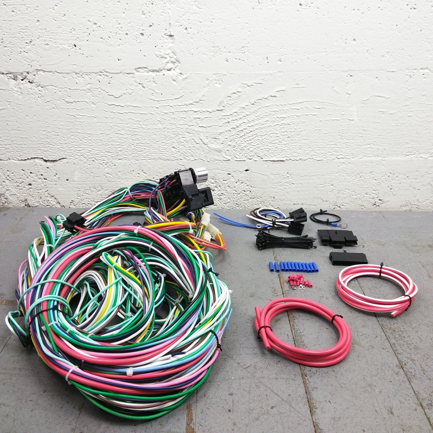 1960 - 1965 Ford Falcon Wire Harness Upgrade Kit fits painless circuit  compact. Bar_Product_Description_C