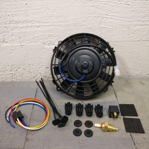1964-1967 Chevrolet 8 Radiator Air Cooling Fan Push Pull 12v slim electric