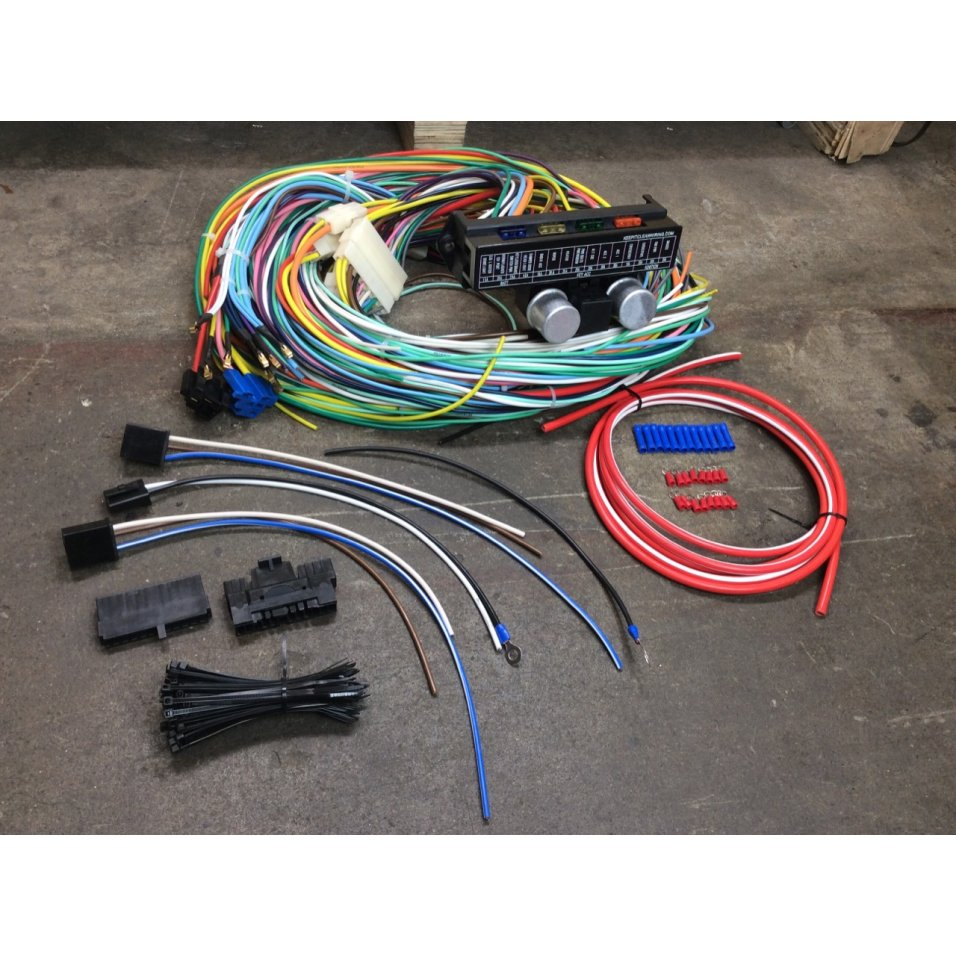 1963 1975 Oldsmobile Complete Modern Update Re Wiring Kit All Wire Electrical Image Is Loading