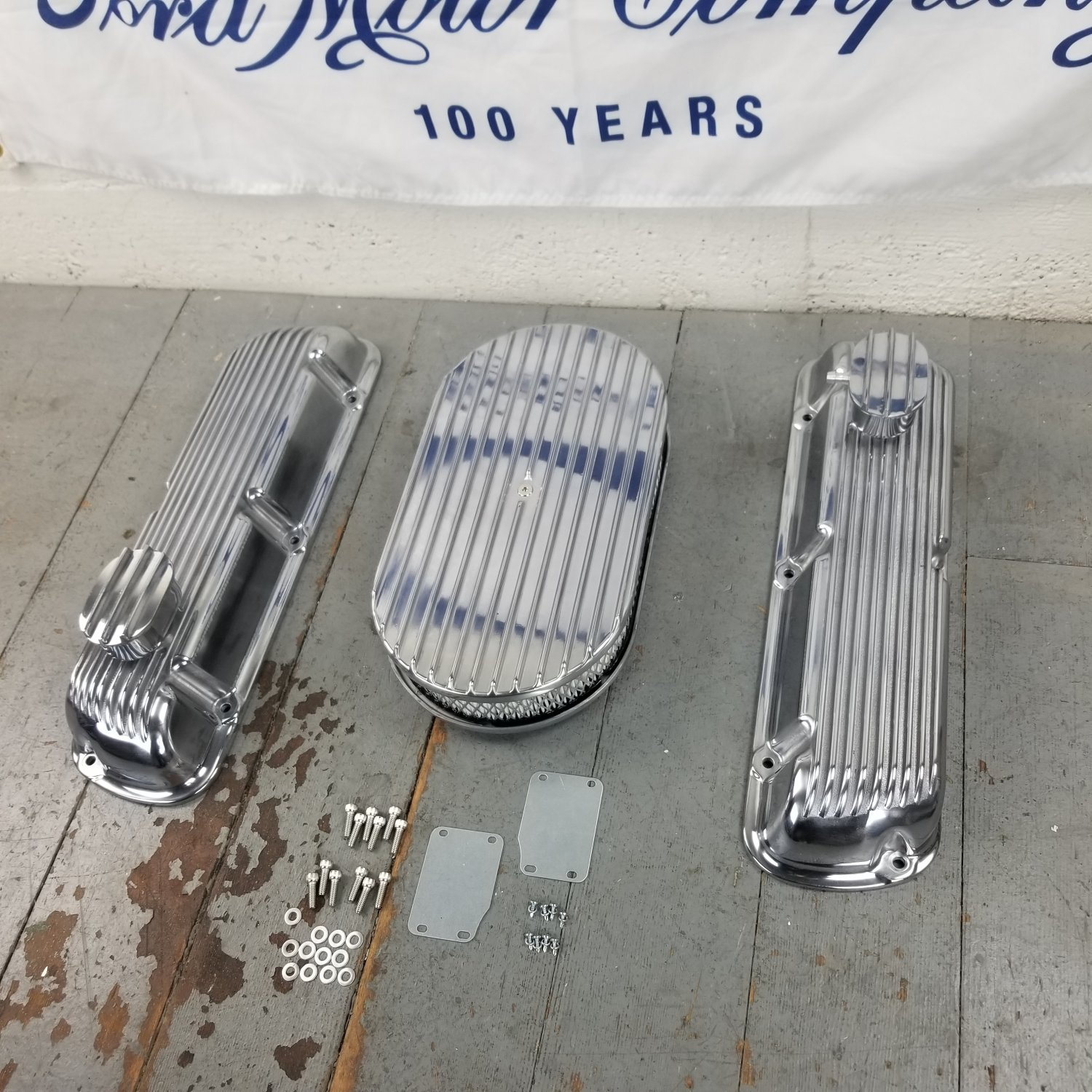 SBF 12 Half Oval//Finned Engine Dress Up kitw// Breathers No PCV 289-351