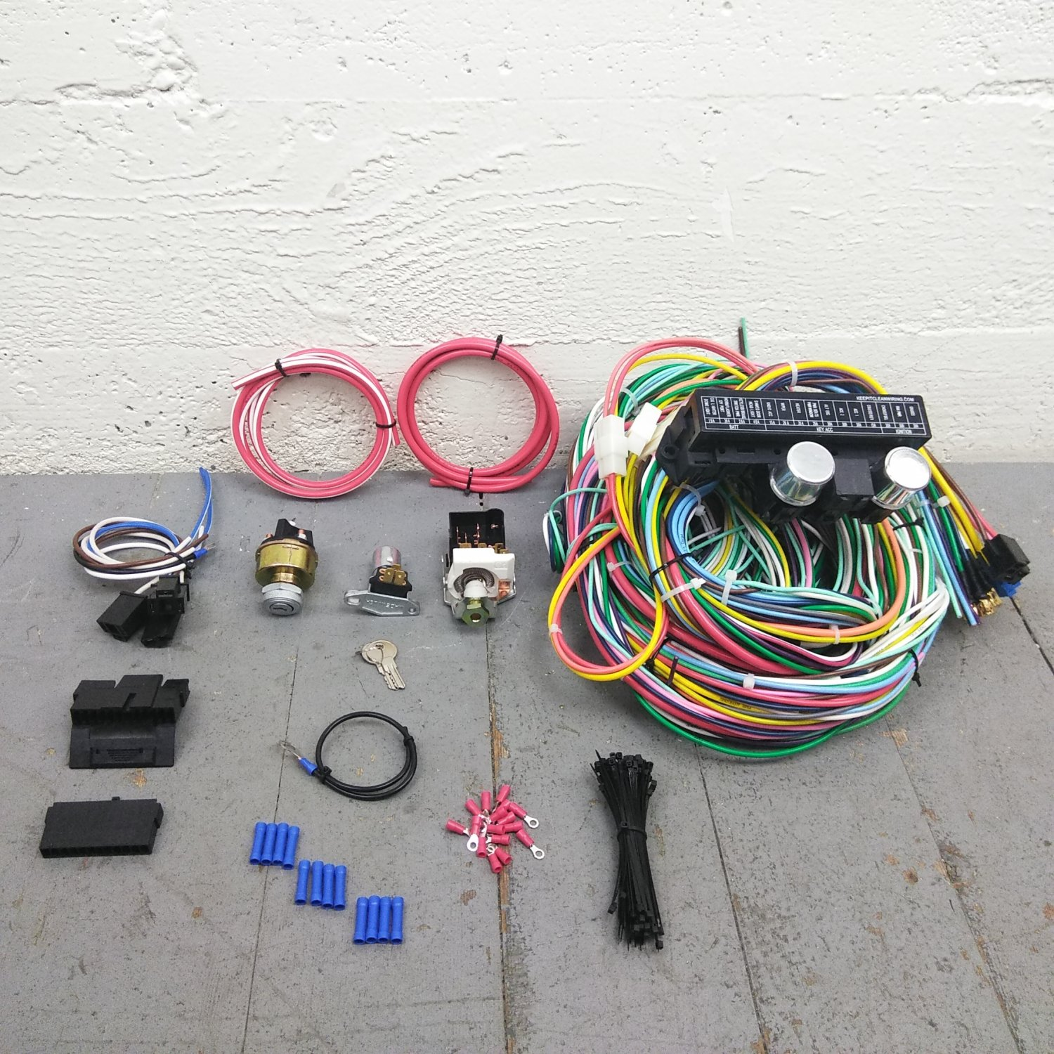 1960 66 chevy truck main wiring harness fuse box headlight. Black Bedroom Furniture Sets. Home Design Ideas
