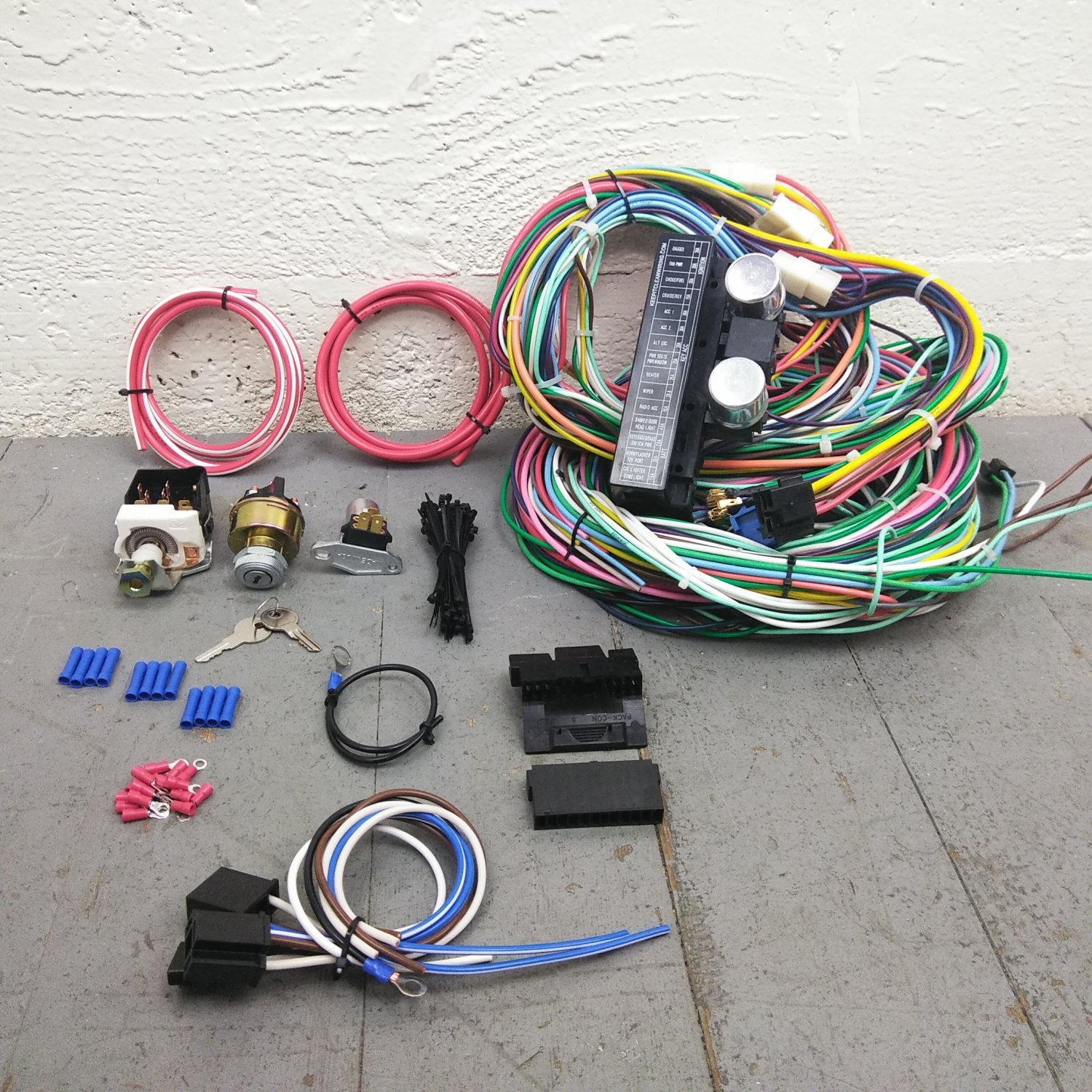 1967 79 ford f1 truck main wiring harness headlight switch. Black Bedroom Furniture Sets. Home Design Ideas