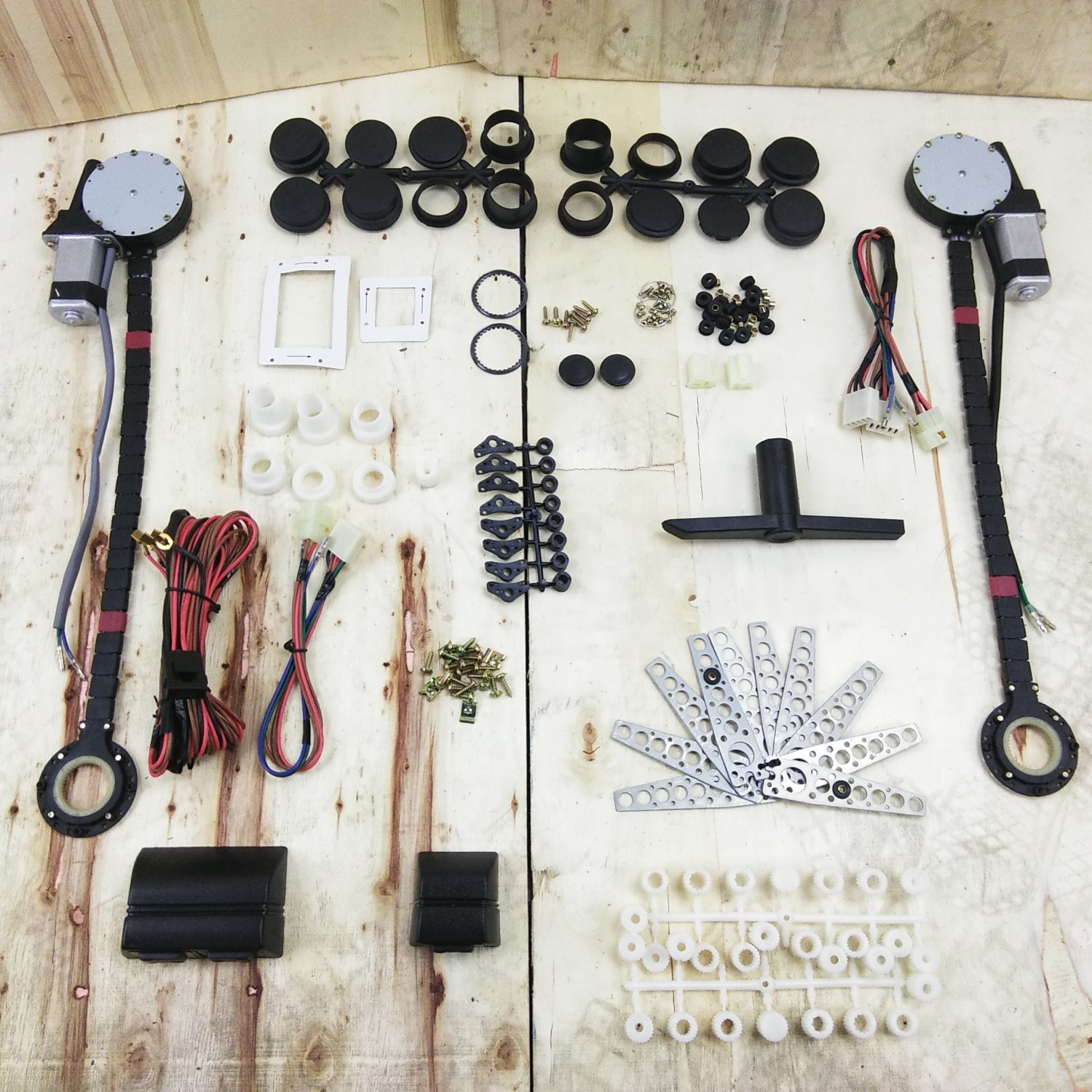 1955-66 Ford Thunderbird Power Window Kit Plug and Play Harness w Switches